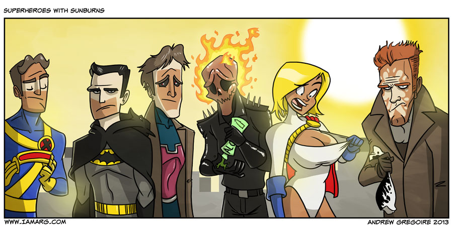 Superheroes with Sunburns