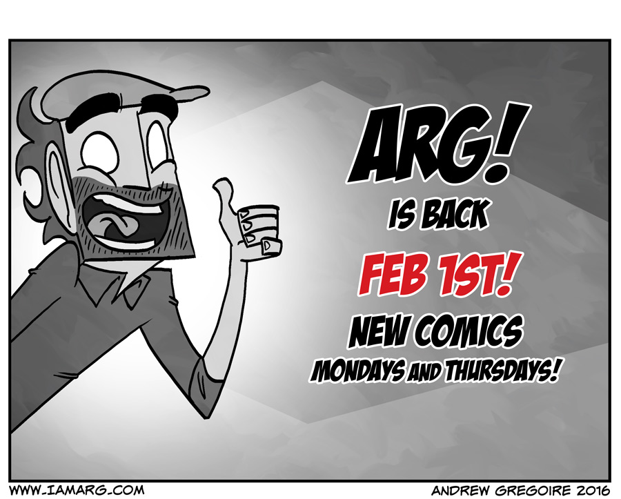 ARG BACK FEB 1ST!!!